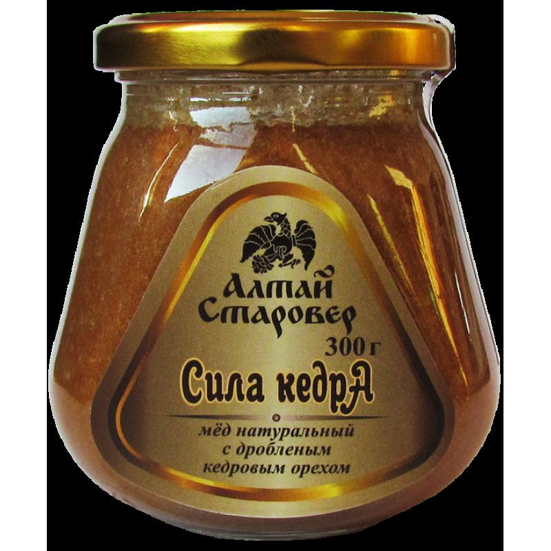 СИЛА КЕДРА Мед натуральный с дробленым кедровым орехом